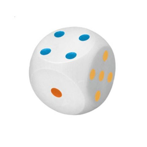 Giant Wooden Dice - White Coloured Replacement Wood Die House of Marbles 13cm